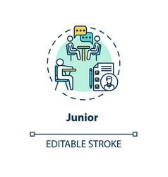 Junior concept icon vector