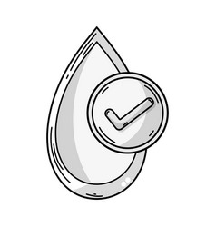 Line blood drop to medical donation symbol vector