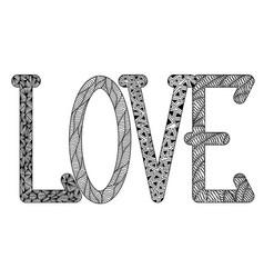 Love in style zenart l o v e black vector