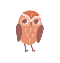 lovely cartoon brown owlet bird character vector image