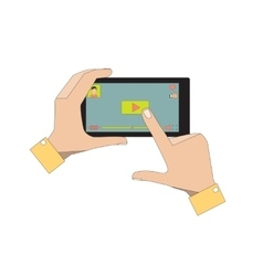 Mobile Phone with Video Player App vector image