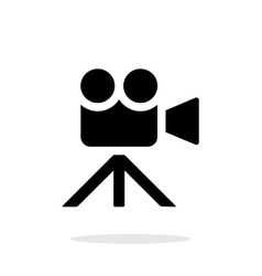 Movie camera simple icon on white background vector image