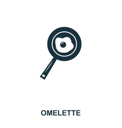 omelette icon mobile apps printing and more vector image