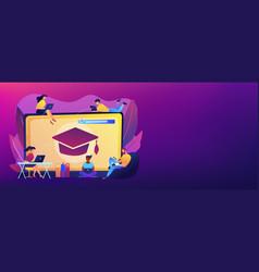 Online courses concept banner header vector