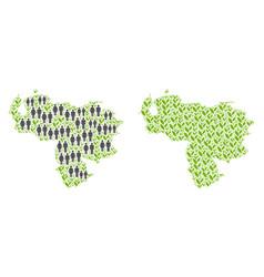 People and plantation venezuela map vector