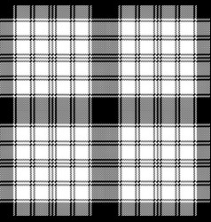 Pixel monochrome plaid seamless pattern vector