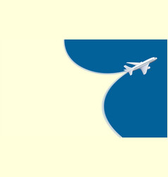 plane flies in sky trace from an airplane as zippe vector image