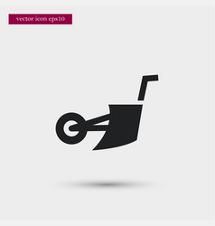 plowing machine icon simple gardening element vector image