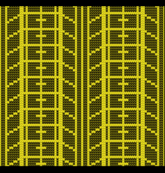 Seamless yellow tire track vector