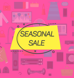 seasonal sale emblem vector image