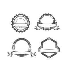 set emblem vector image