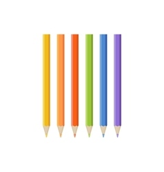 Set of Colored Pencil Icons vector image