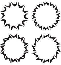 Set of four aggressive round frames vector