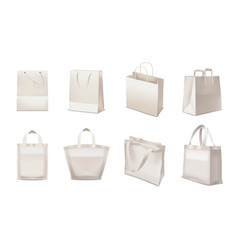 shopping bag realistic set vector image