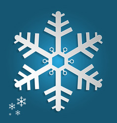 snowflake in paper art and craft style for happy vector image
