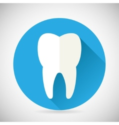 Stomatology and Dental Treatment Symbol Tooth Icon vector