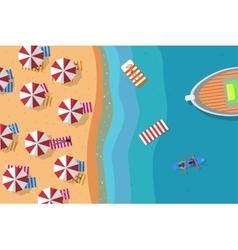 Summer beach flat vector image