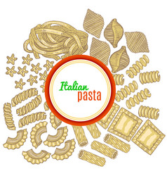 Template with pasta and label vector