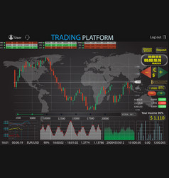 trade market binary option world vector image