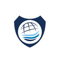 travel tour world shield vector image