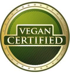Vegan certified icon vector