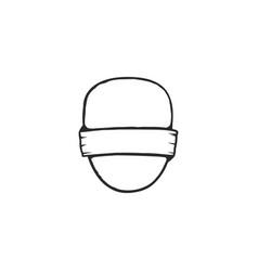 vintage frame shape and form for logo label vector image
