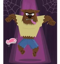 werewolf Halloween vector image