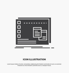 Window mac operational os program icon glyph gray vector
