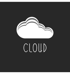 Cloud internet data icon tech logo web sign vector