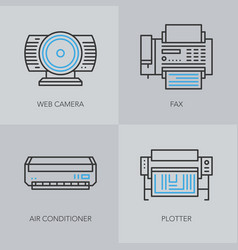 detailed thin line icons for business vector image