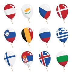 flag balloons vector image