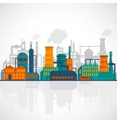 Flat industry background vector image vector image