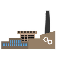 front view of a factory vector image