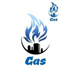 Natural gas refinery factory icon vector image vector image