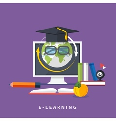 Online education professional education vector image vector image