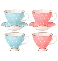 Set of teacups vector image