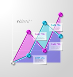 Abstract diagram infographics template vector image vector image