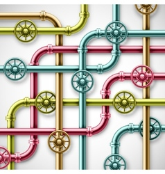 Colorful pipes vector image vector image