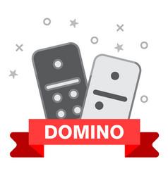 domino line icon outline of domino vector image