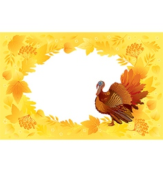 Thankgiving card with turkey vector image