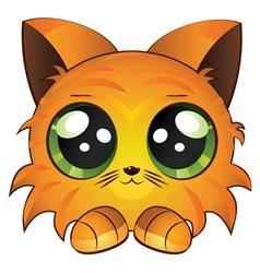 Cartoon red kitten vector image