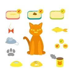cat set flat vector image vector image