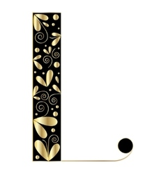Decorative letter shape Font type L vector image