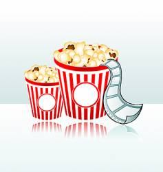 movie time background vector image vector image