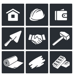 Construction and home repair icons set vector image vector image