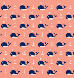 cute whales vector image vector image