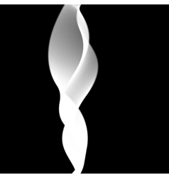 Delicate smoke waves on black background vector image