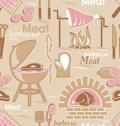 meat seamles background vector image