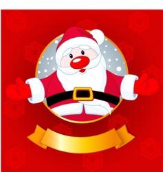 Santa Christmas card vector image vector image