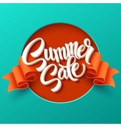 Summer Sale lettering Ribbon background vector image vector image